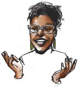 Illustration of Kelsey M. Jones