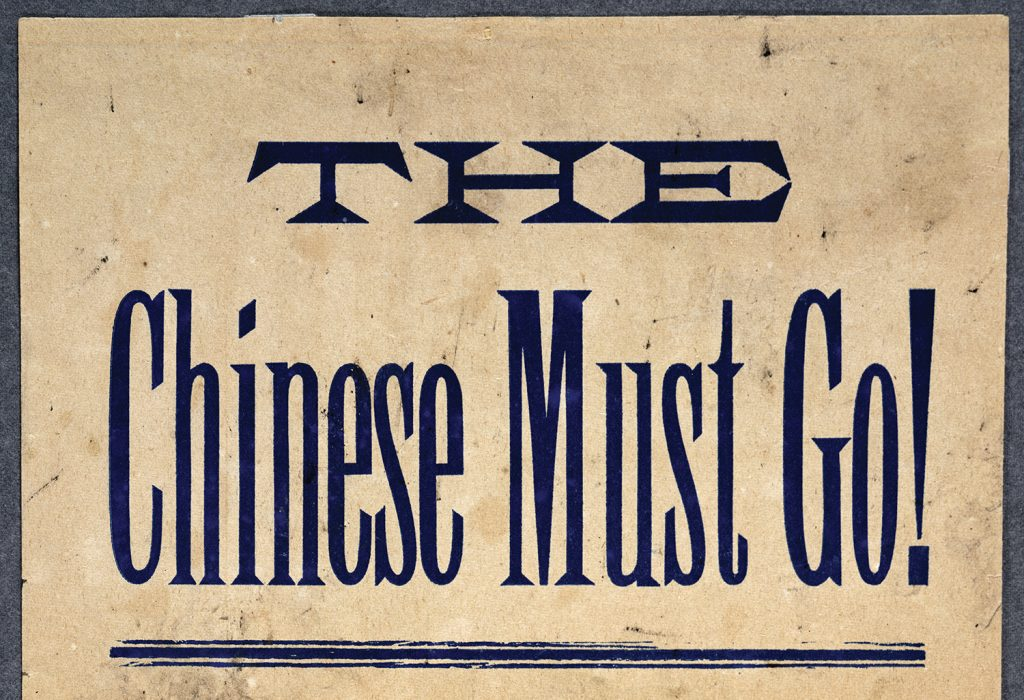 Photo of vintage poster showing fear of Chinese