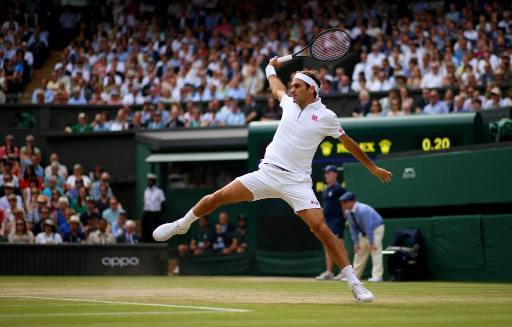 Photograph of Roger Federer playing tennis