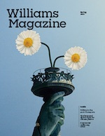 cover: statue of liberty with daisies instead of torch