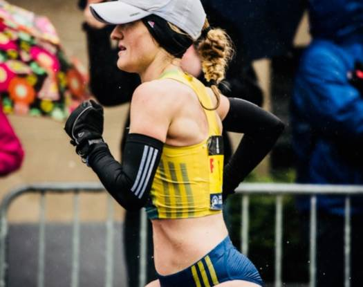 Rachel Hyland, Williams Class of 2009, took a fourth-place finish at the 2018 Boston Marathon.
